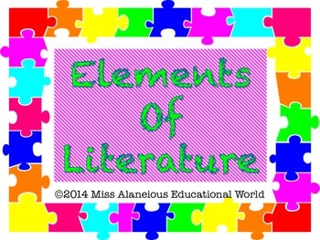 Elements of Literature Mini-Posters for Language Arts!