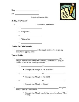 Elements of Literature: Plot Notes