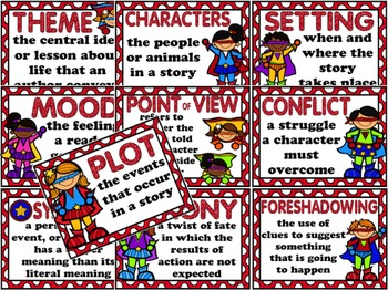 Elements of Literature Posters and More