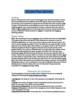 Elements of Literature - Quizlet Lesson
