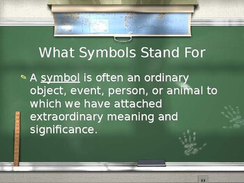 Elements of Literature: Symbolism & Allegory PowerPoint