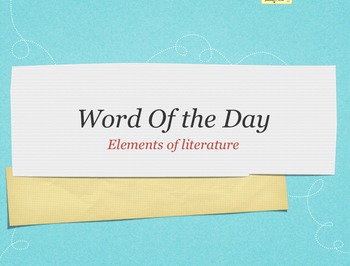 Elements of Literature Word of the Day