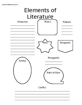 Elements of Literature Worksheet