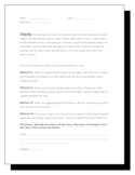 Elements of Literature Worksheets--Secondary Level