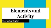 Elements of Literature and Activity! EDITABLE!