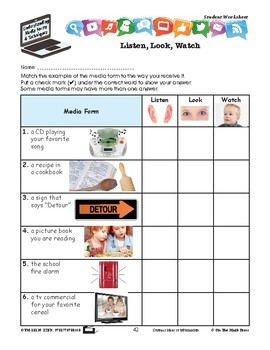 Elements of Media Form Lesson Plan Grades 2-3 - Aligned to Common Core