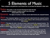 Music:Elements of Music