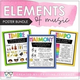 Elements of Music Anchor Charts - RAINBOW