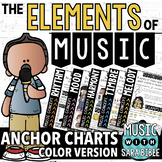 Elements of Music Anchor Charts {Color}