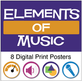 Elements of Music | Anchor Chart Posters (Digital Print)