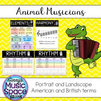 Elements of Music Animal Musicians Theme