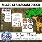 Elements of Music Bulletin Board Safari Theme