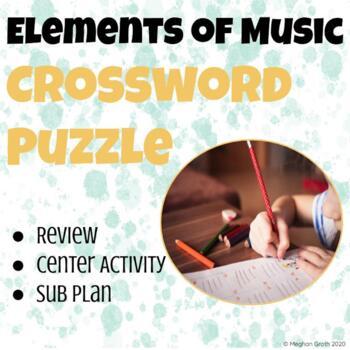 Elements of Music Crossword Puzzle