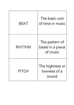 Elements of Music Flashcards (Basic)