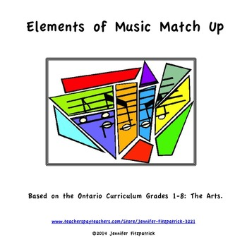 Elements of Music Match Up