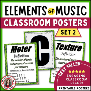 Music Classroom Decor: Elements of Music Posters - Set 2