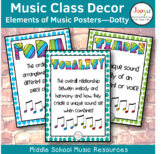 Elements of Music Posters - DOTTY