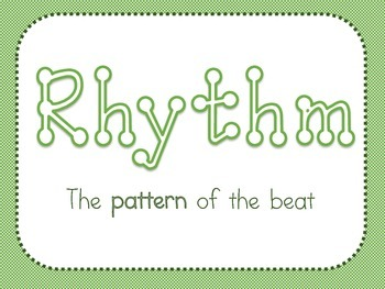 Elements of Music Printables- Blue & Green