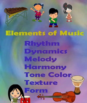 Elements of Music Purple Poster