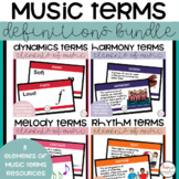 Elements of Music Terms Bundle