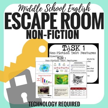 Elements of Non-Fiction - Escape Room - Middle School English