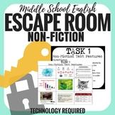 Elements of Non-Fiction - Escape Room - Middle School English