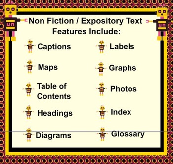 Elements of NonFiction Text Features Mini Lessons in Expository Text