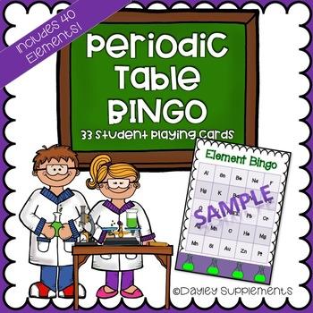 Periodic table of elements bingo game fun by dayley supplements periodic table of elements bingo game fun urtaz Image collections