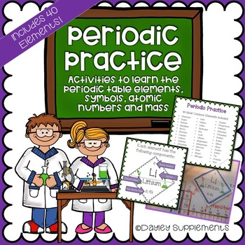 Elements of Periodic Table - Flash Cards, Games, Group Act
