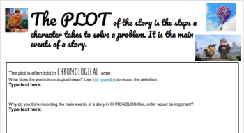 Elements of Plot Digital Notebook and Personal Narrative Assignment