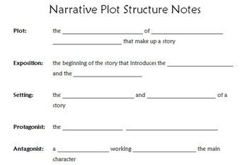 Elements of Plot / Fiction Presentation and Guided Notes