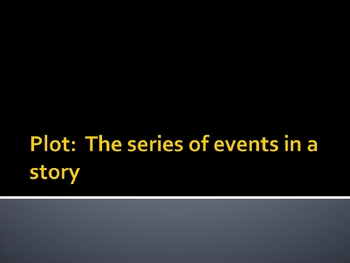 Elements of Plot Powerpoint