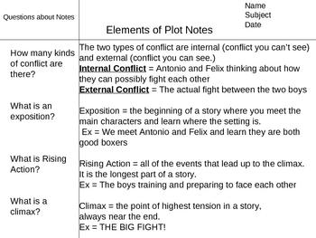 Elements of Plot Powerpoint Presentation Amigo Brothers by Piri Thomas