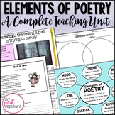 Elements of Poetry Unit Grades 3 - 5 Common Core Aligned