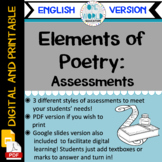 Elements of Poetry: Assessments ENGLISH VERSION