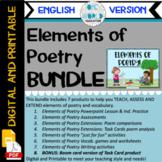 Elements of Poetry: BUNDLE Digital and Printable (English