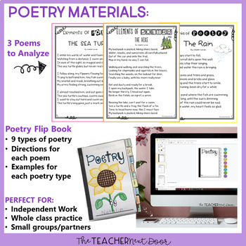 Elements of Poetry, Drama and Prose for 3rd - 5th Grade
