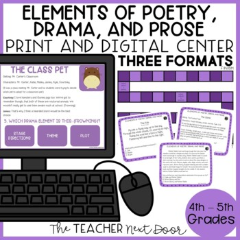 Elements of Poetry, Drama, and Prose Game | Poetry, Drama, and Prose Center