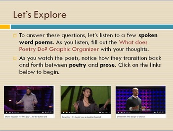 Elements of Poetry Entire Unit Interactive PowerPoint and WebQuest