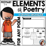 Primary Elements of Poetry Graphic Organizer - For ANY Poem