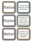 Elements of Poetry-Matching Game