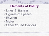 Elements of Poetry Notes