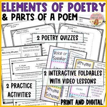 elements of poetry parts of a poem 6 activities video lessons. Black Bedroom Furniture Sets. Home Design Ideas