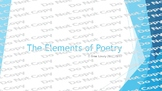 Elements of Poetry Presentation