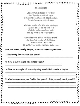 Elements of Poetry Printable and Practice