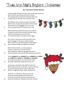 picture about Twas the Night Before Christmas Poem Printable titled Products of Poetry: Twas the Night time Right before Xmas
