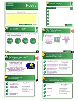 Elements of Poetry Unit Smart Notebook Lessons
