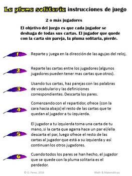 Poetry Elements Spanish-Vocabulario de Elementos de la Poesia-Vocabulary Game