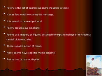 Elements of Poetry and Figures of Speech Powerpoint Presentation