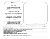 Elements of Poetry and Poetry Comprehension Activity Jack Prelutsky Poem